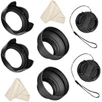 Veatree 55mm and 58mm Lens Hood Set Compatible with Nikon D3400 D3500 D5300 D5500 D5600 D7500 DSLR Camera with AF-P DX…