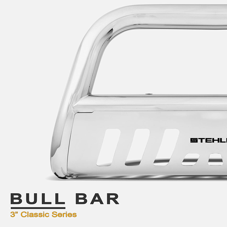 06-14 Ridgeline Matte Black For 03-08 Honda Pilot Stehlen 714937181960 3 Classic Series Bull Bar
