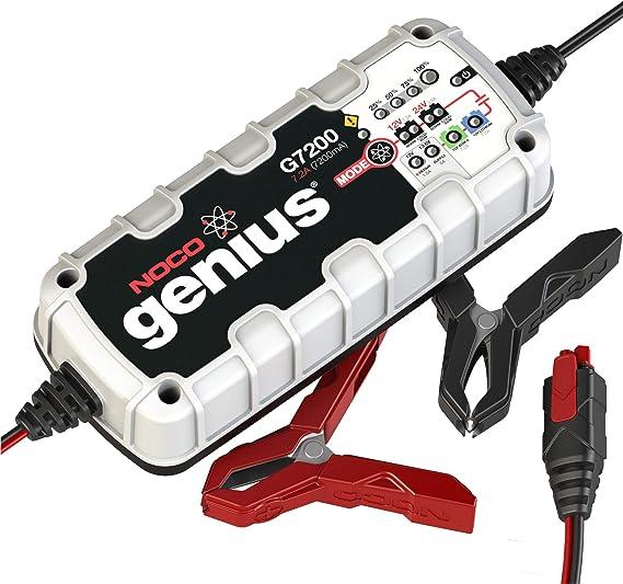 Noco Genius G7200eu 12v Und 24v 7 2 Amp Vollautomatisches Intelligentes Batterieladegerät Und Erhaltungsladegerät Auto