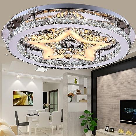 LED cristal lámpara de techo redondo Diseño plafón 48 W ...