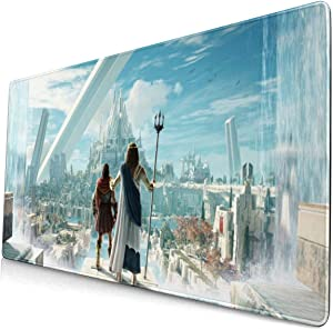 Assassin's Creed Mouse Pad with Stitched Edge Premium-Textured Mouse Mat Rectangle Non-Slip Rubber Base Oversized Gaming Mousepad,for Laptop Computer & PC 15.8X29.5 Inches