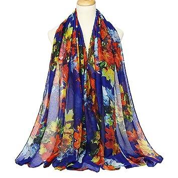 YAN Pañuelos de Mujer Chal de Las Mujeres 2018 señoras Abrigos de la Vendimia Bufanda Bufandas Autumn Maple Leaves Bufanda Travel Holiday Gifts (Color : 4): ...