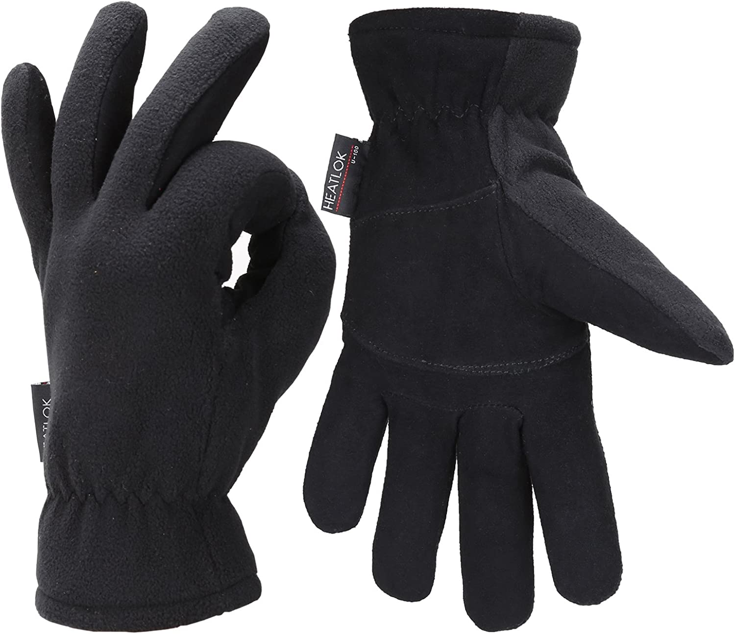 Mens Winter Gloves Cold Weather Thermal Warm Fleece Windproof Gloves for Men  at Amazon Men's Clothing store