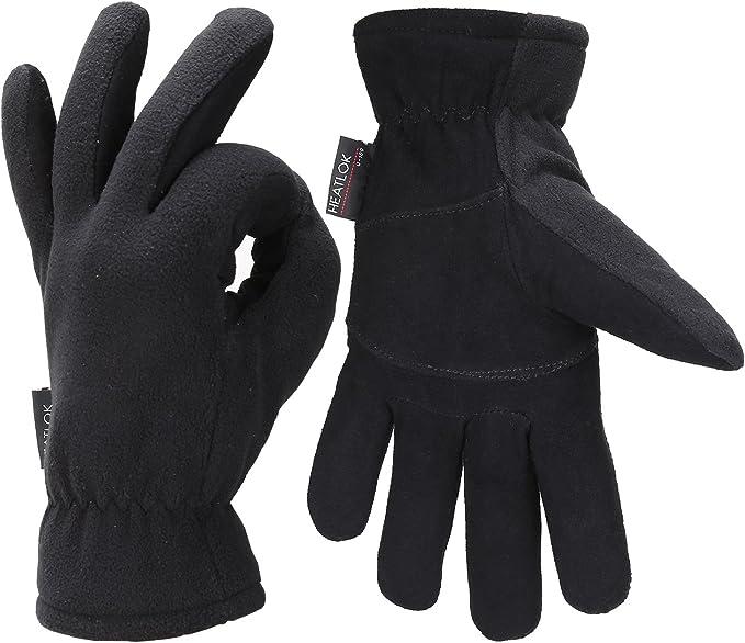 Fantastic Zone Mens Winter Warm Fleece Windproof Gloves