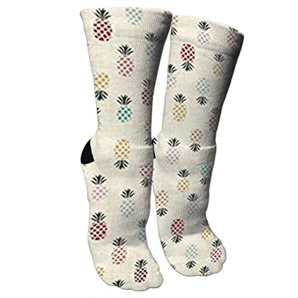 Unisex Close Pineapple Pattern Knee High Compression Thigh High Socks Soft Socks