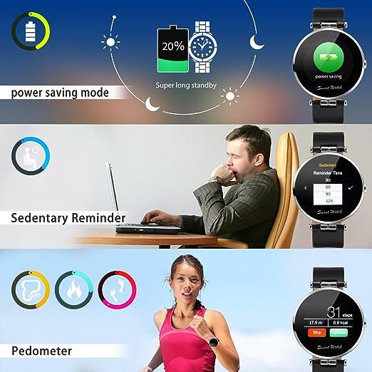 Fantime Smartwatch Relojes Inteligentes Bluetooth smartwatch Relojes de pulsera Wristwatch(Mensaje ,Cámara, Bluetooth, Sincronizar Llamada, podómetro)  para ...