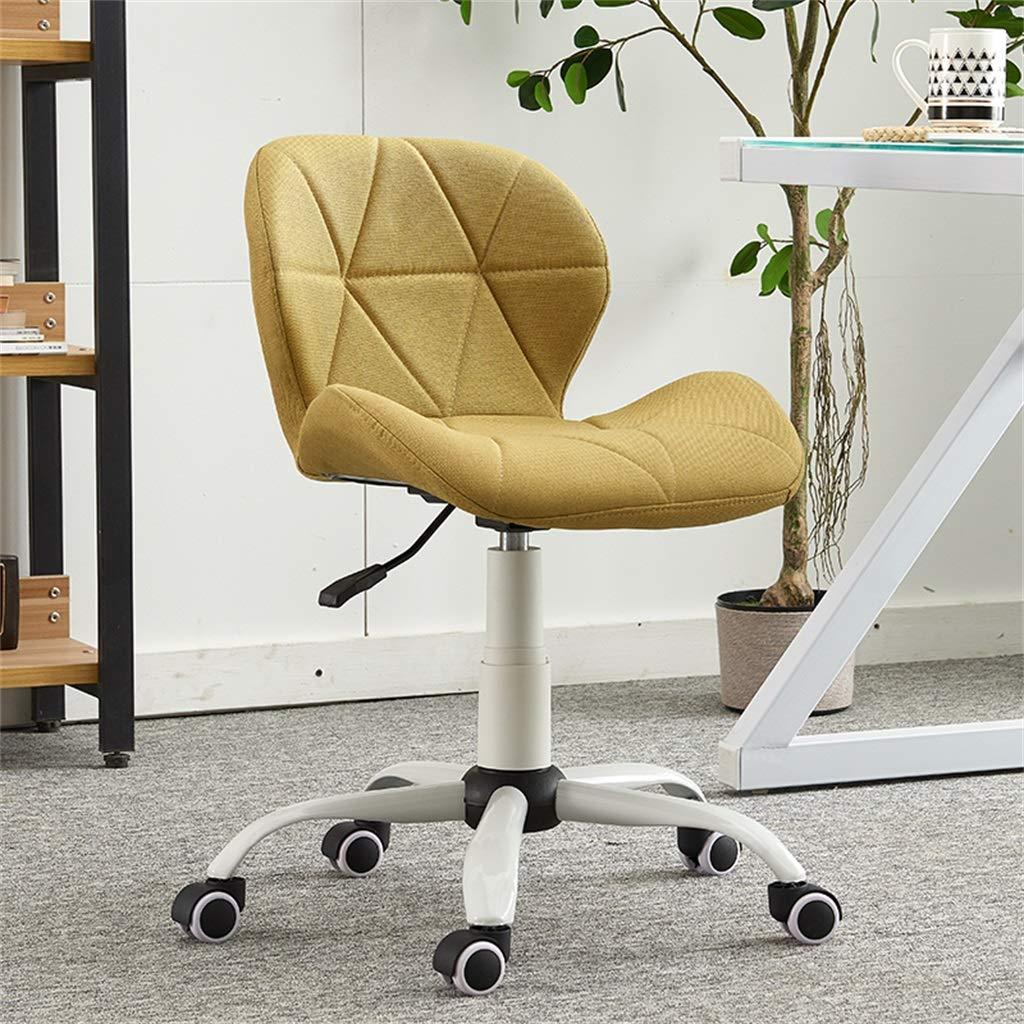 Amazon.com: Silla de escritorio giratoria de tela de lino ...