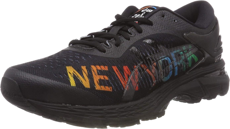 Asics Gel-Kayano 25 NYC, Zapatillas de Entrenamiento para Hombre, Negro (Black/Black 001), 42.5 EU: Amazon.es: Zapatos y complementos