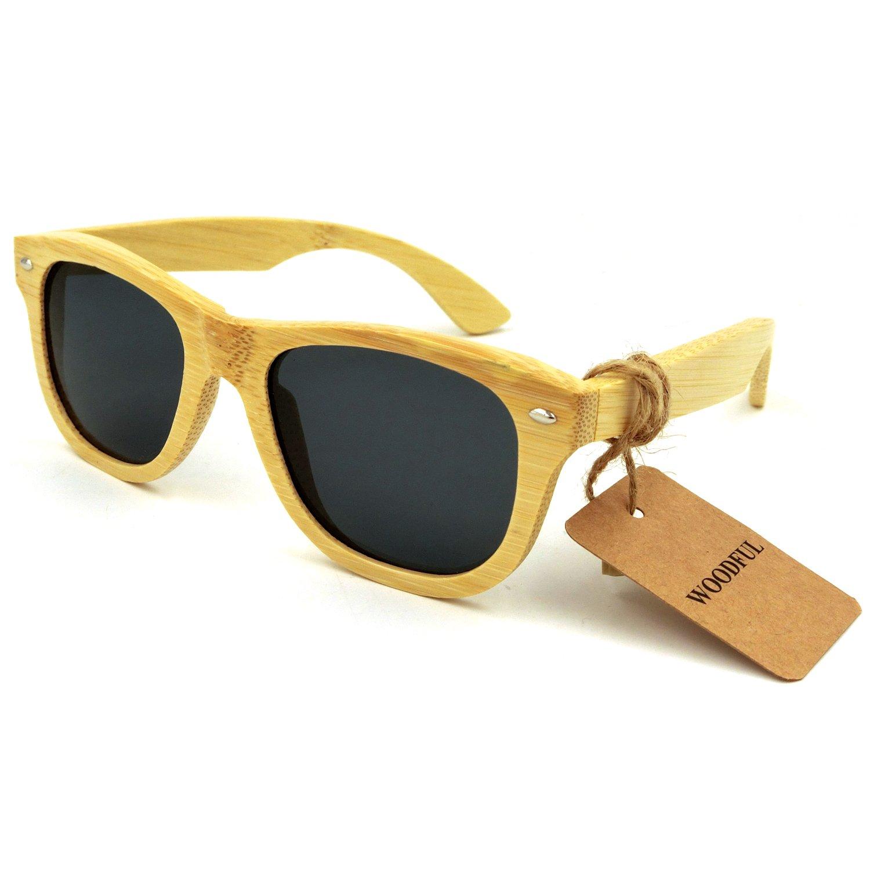 Wood Glasses - Polarized Sunglasses,Bamboo Wooden Eyewear Sunglasses