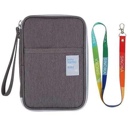 03ff79036d0 Passport Wallet SINCIKA Waterproof Family Journey Case Credit Card Holder  Multi-Purpose Travel Organizer Portable Casual Coin Purses   Pouches