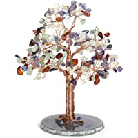CrystalTears 7 Chakra Crystal Money Tree Natural Healing Crystal Bonsai Tree Sculpture Figurines Tumbled Gemstone Tree…
