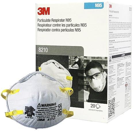 M�scara 20 Respiradora - Piezas es N95 Part�culas Amazon De 3m