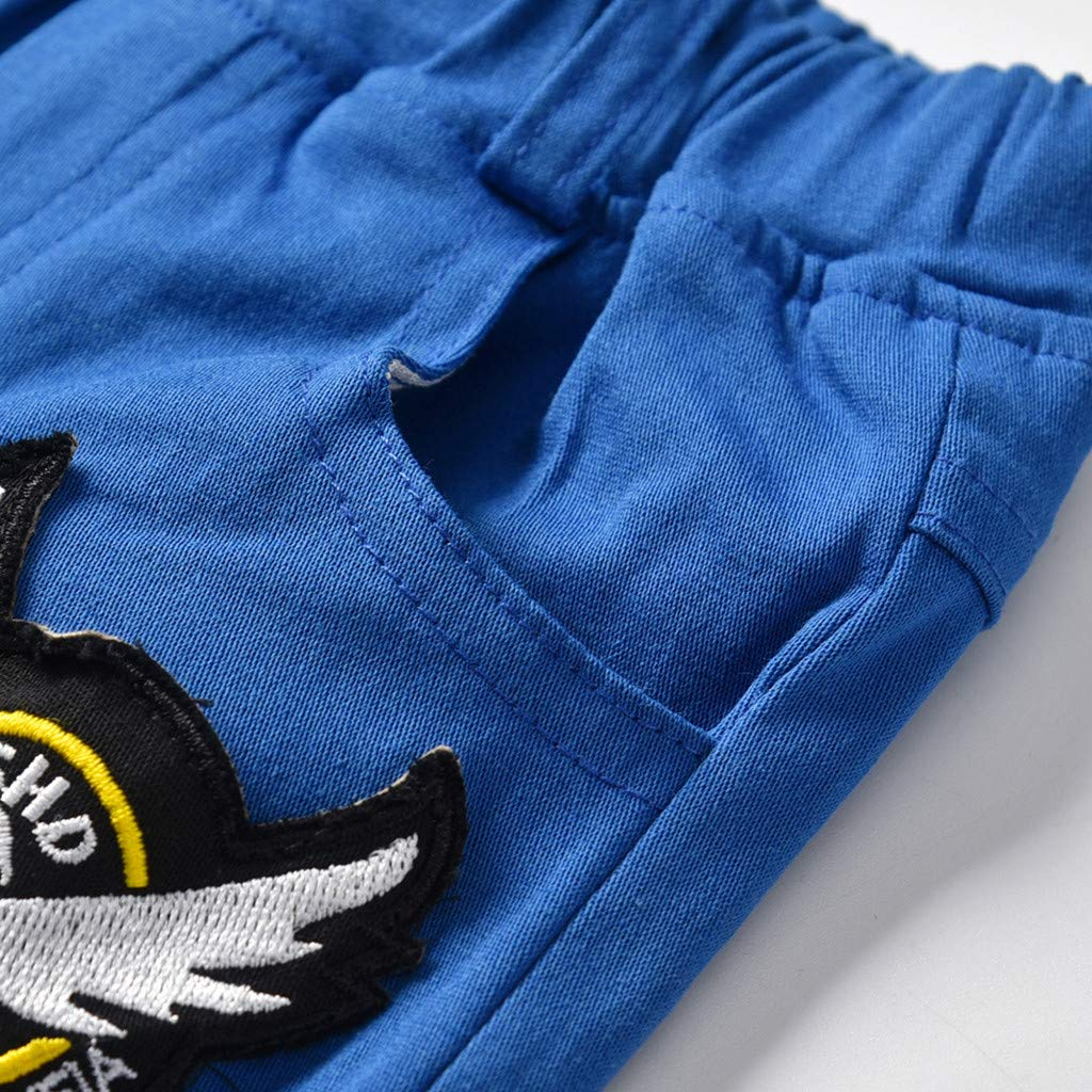 Ensembles Short et Haut Bebe Fille T-Shirt Tops Manche /à Mouche Shorts Ete Enfant Fille 0-3 Ans Bonjouree