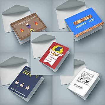 Nerd Cards 5 Nerdy Birthday Cards Amazon Office Products