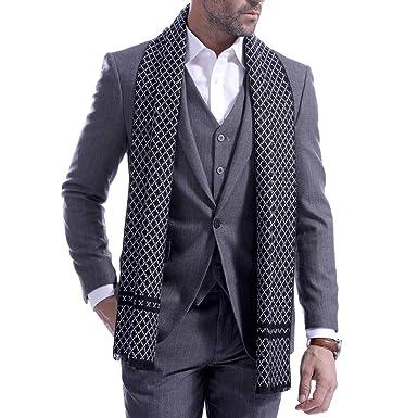 Pañuelos Diseño Hombre/Cálido Rejilla Larga Pañuelo Invierno ...