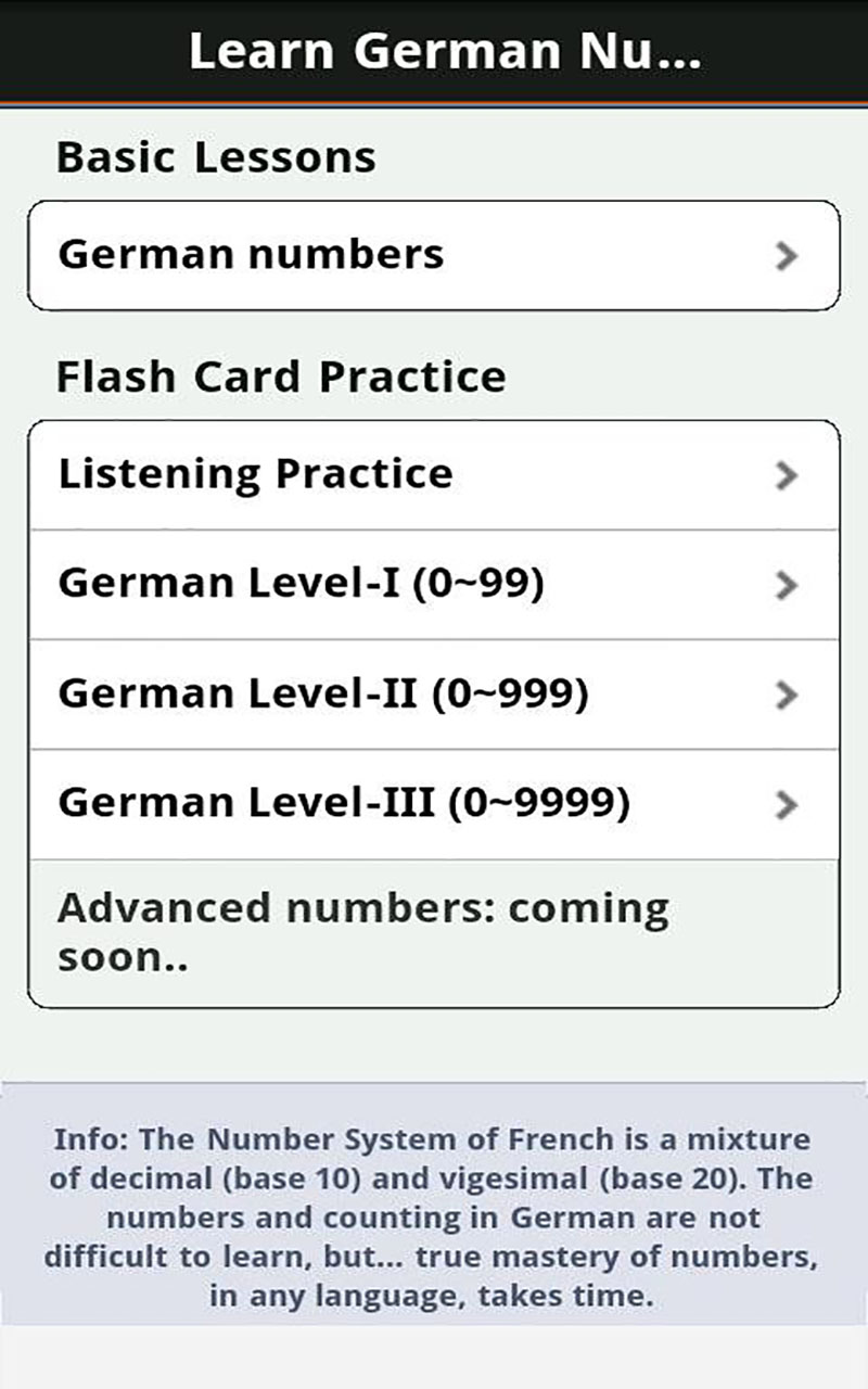Amazon com: Learn German Numbers: Appstore for Android