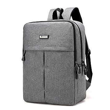 Mochila para ordenador portátil de la universidad Mochila de viaje ligera para mochila escolar para hombre Mujer 15,6 pulgadas (Gris): Amazon.es: ...