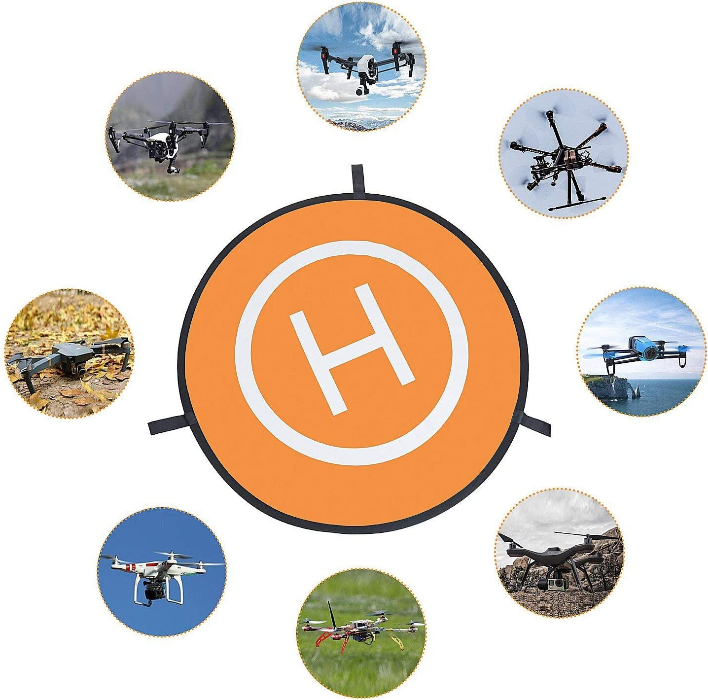 22//55cm Waterproof Portable Foldable Helipad Helicopter Landig Mat for DJI Mavic Pro Phantom 2//3//4// Pro DJI Mavic Air Drone Landing Pad RC Drones Helicopter Inspire and More Karma Drone