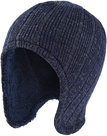 Vbiger Warm Knitted Hat and Circle Scarf Skiing Hat Outdoor Sports Hat Sets 6149c72e1b5