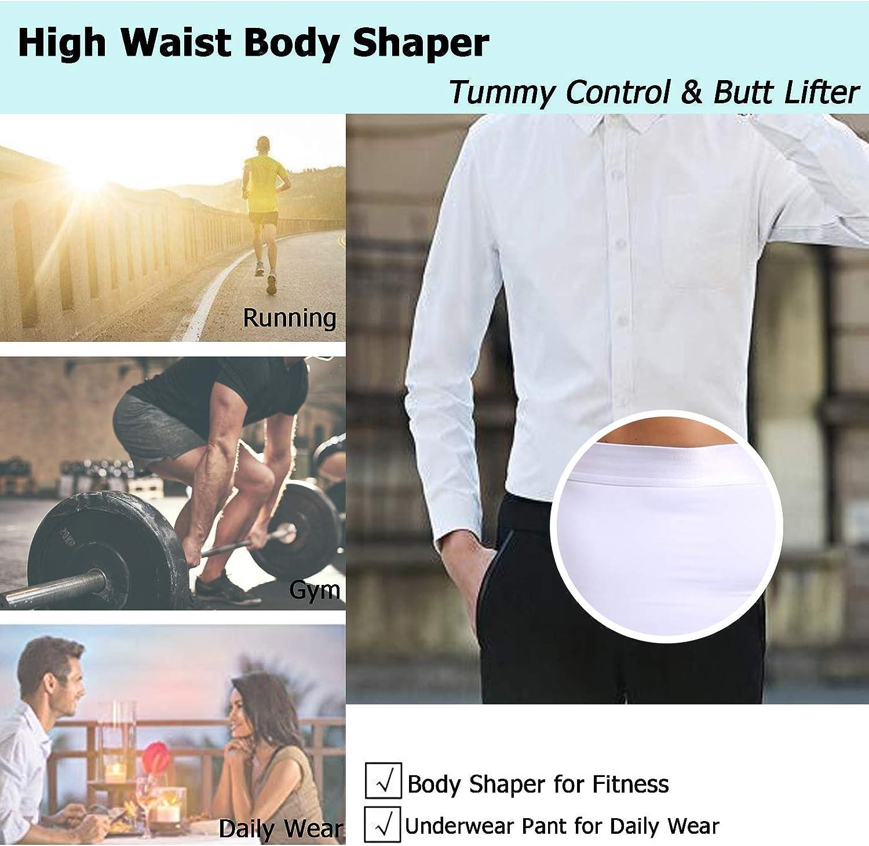 Derssity Mens High Waist Underwear Trunks Slimming Body Shaper Underpants Soft Tummy Control Girdle Panties