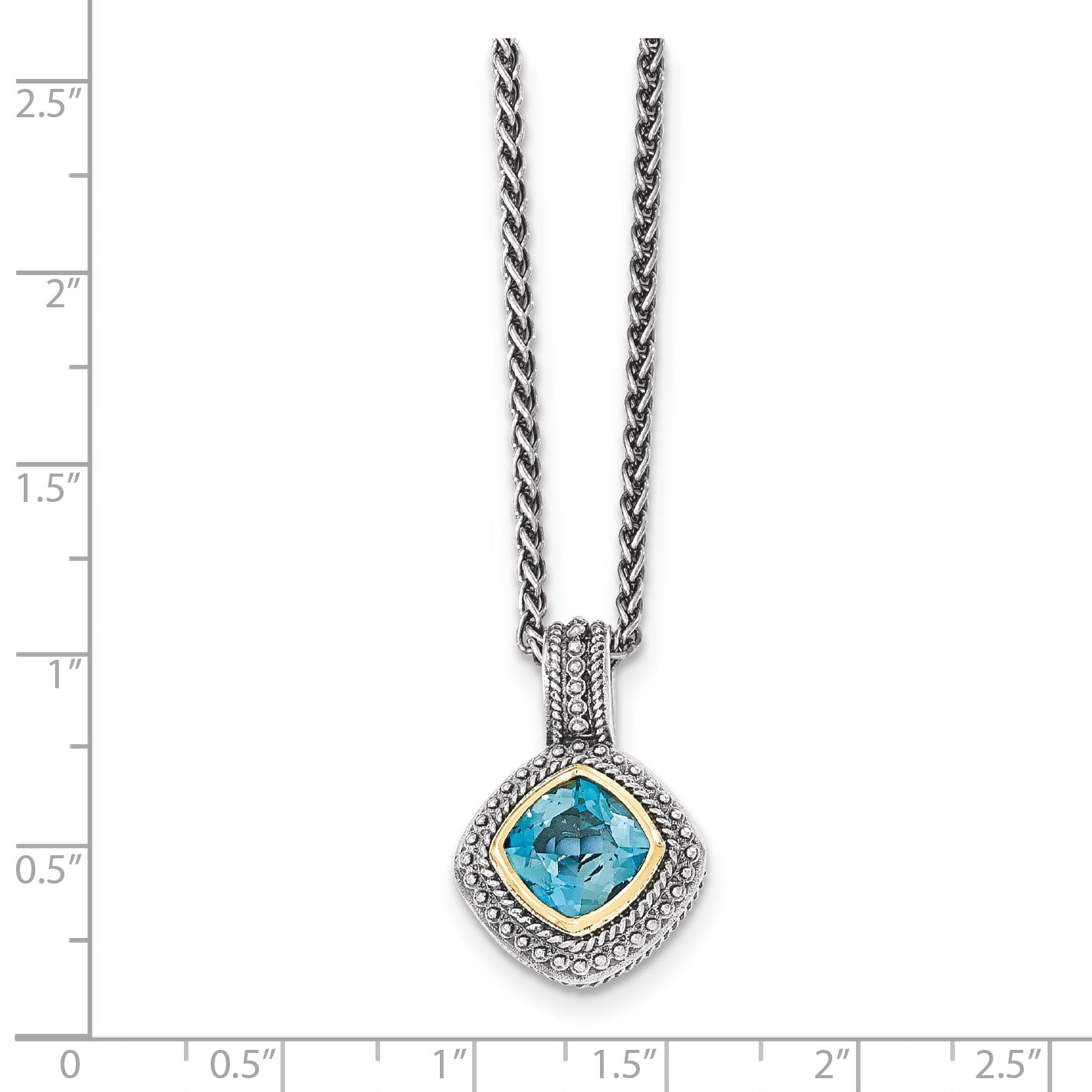 ICE CARATS 925 Sterling Silver 14k London Blue Topaz Chain Necklace Gemstone by ICE CARATS (Image #2)