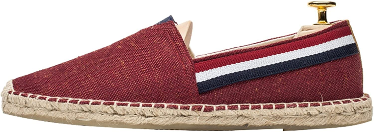 ONCEFIRST Mens Casual Slip On Loafer Espadrille Flat Canvas Shoes Sneaker