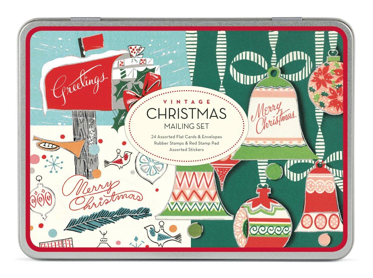Amazon.com: Cavallini Christmas Vintage Mailing Sets, 24 Assorted ...