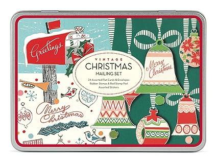 amazon com cavallini christmas vintage mailing sets 24 assorted