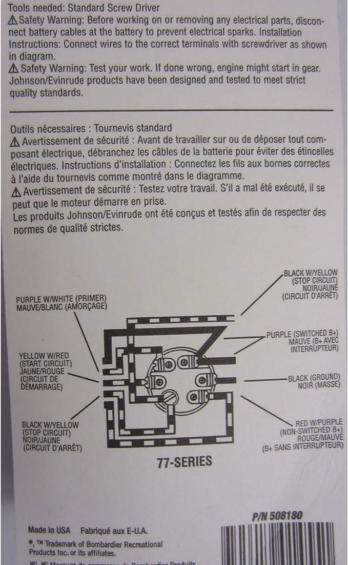 Amazon Com Oem Evinrude Johnson Brp Ignition Switch 77 Series 1977 1995 508180 Automotive