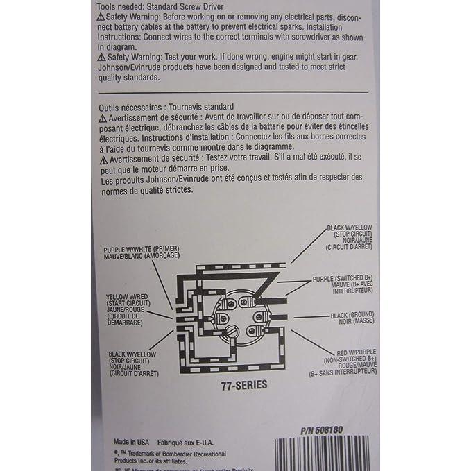 Wiring Diagram Evinrude 508180 - Custom Wiring Diagram •