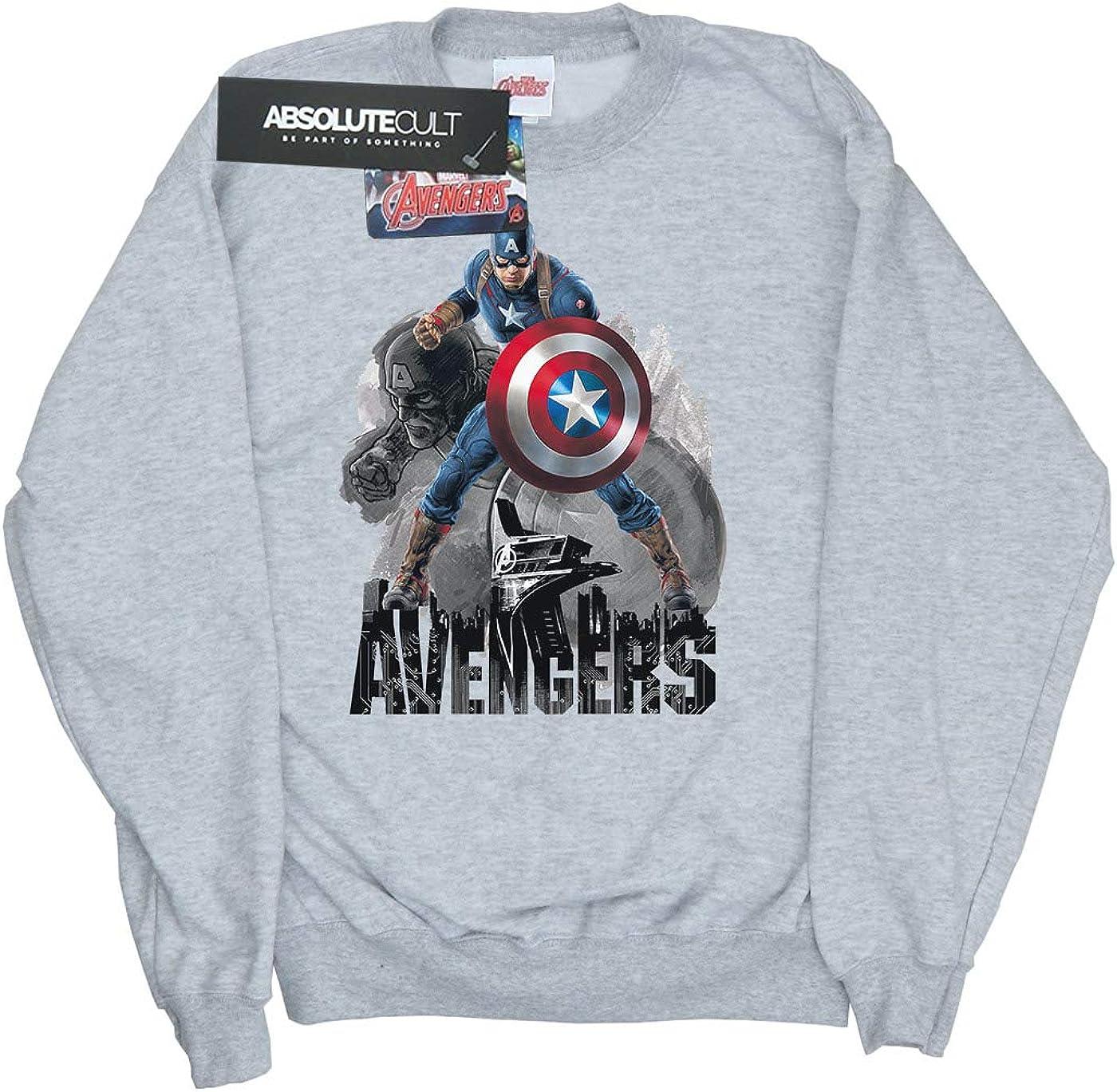 Marvel Hombre Captain America Action Pose Camisa De Entrenamiento Large Gris Sport: Amazon.es: Ropa y accesorios