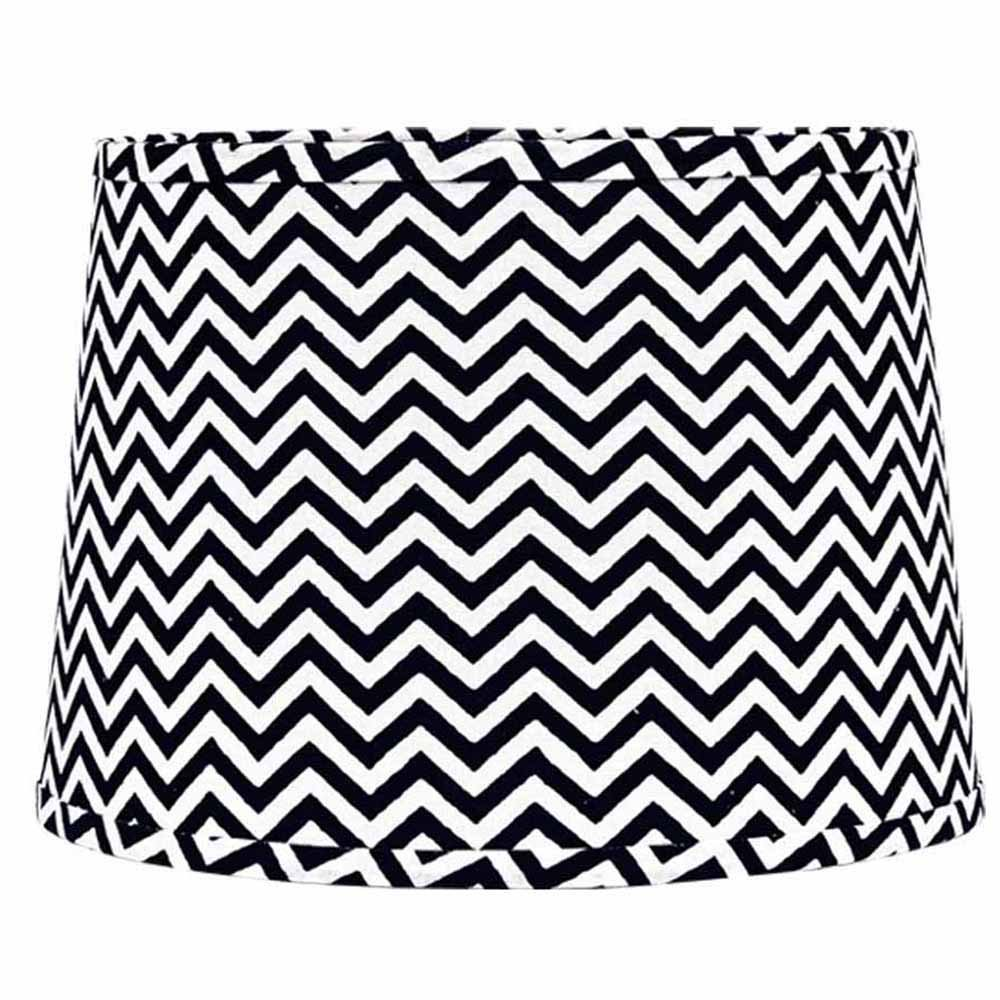 Home Collection by Raghu 6D790011 Black & White Chevron Washer Drum Lampshade, 16''