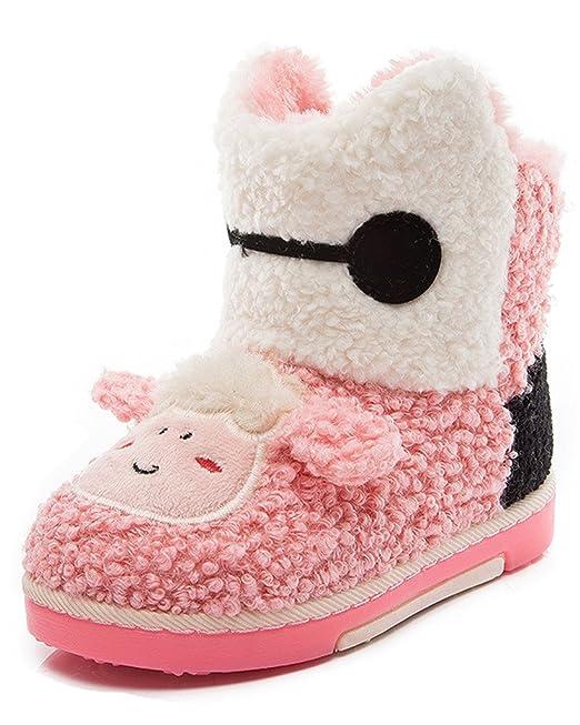 Minetom Unisexo Bebé Niña Niño Calentar Botas De Nieve Suave Soles Zapatos Dulce Dibujos Animados Niños Botines Rosa EU 27: Amazon.es: Ropa y accesorios