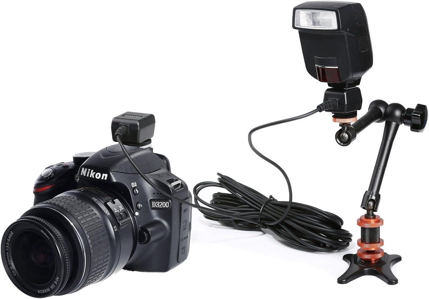 SB-910 SB-600 + Bonus Neat Strap Movo Photo FC50N 16-Foot 5m etc SC-28 Replacement SB-800 SB-700 SB-400 SB-900 Heavy-Duty TTL Off-Camera Flash Shoe Cord for Nikon SB-300