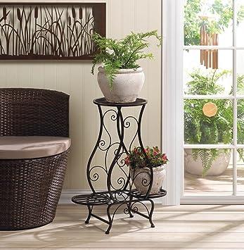 Jardín Macetas Flores Plantas Soporte Hierro Multi soporte escalonado para interior exterior caja esquina Patio Decoración del hogar: Amazon.es: Jardín