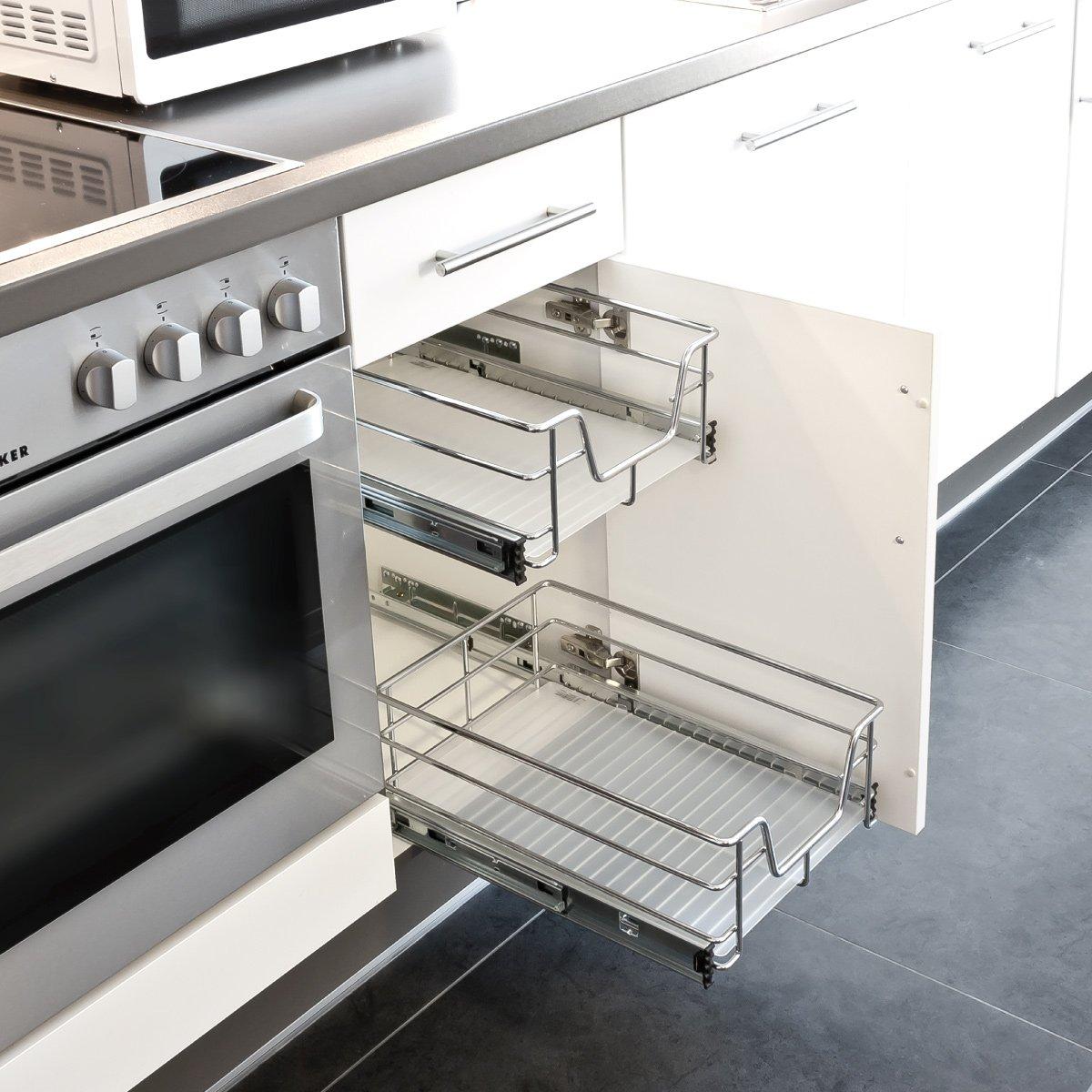 bremermann® Teleskopschublade, Küchenschublade mit Einlegeboden, 60 ...