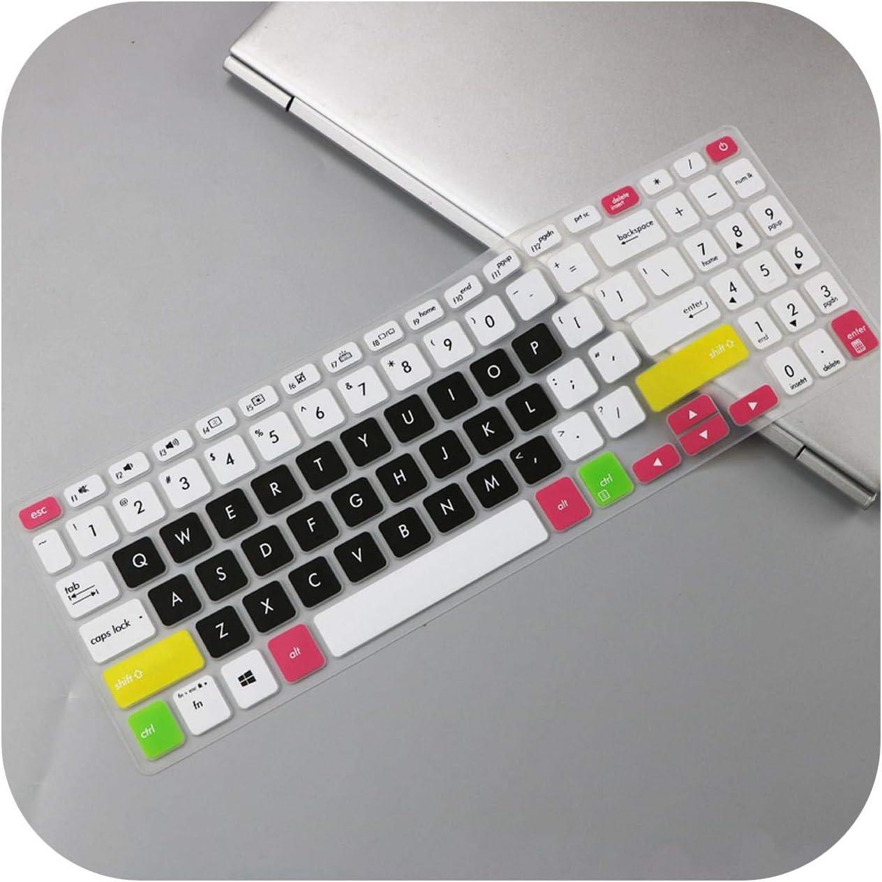 Housse De Protection en Silicone pour Clavier pour ASUS Vivobook 15 A512Fb A512F A512Fl A512 FL FB 15.6 Pouces-Candyblue