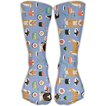 3696c1270ec Image Unavailable. Image not available for. Color  Dog Sushi Noodles Sports  Long Outdoor Socks High Casual Sock Unisex