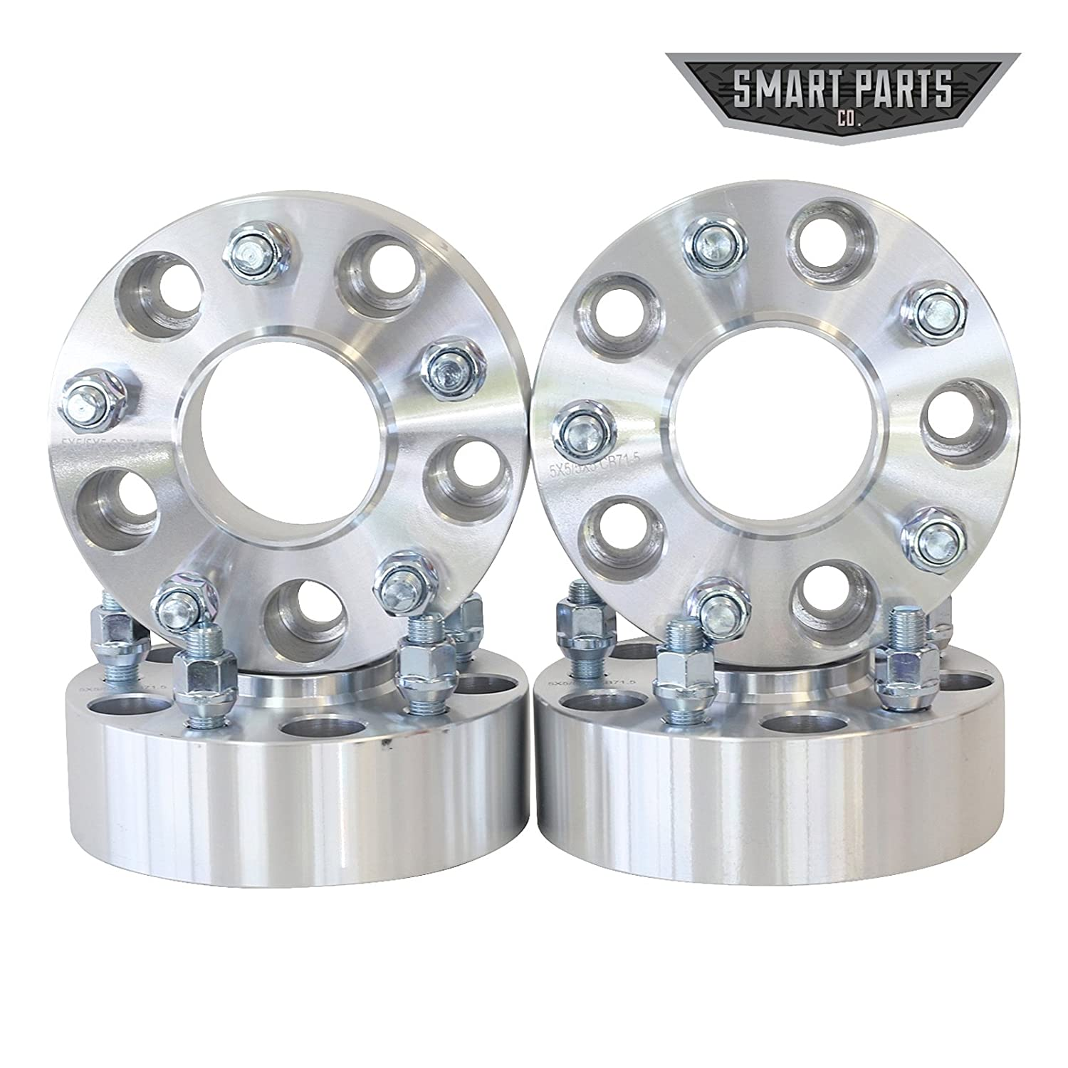 ATV Engineering 4 Qty Wheel Spacers Adapters 4' (2 inch Per Side) fits All 5x5 (5x127) Hubcentric Vehicle to 5x5 Wheel Patterns 1/2 x 20 Threads fits Jeep Wrangler JK Rubicon Wheel Spacer SmartPartsCo.com