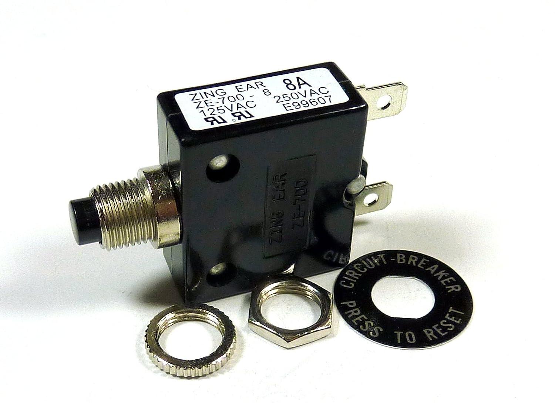 8 AMP 32VDC, 250VAC CIRCUIT BREAKER