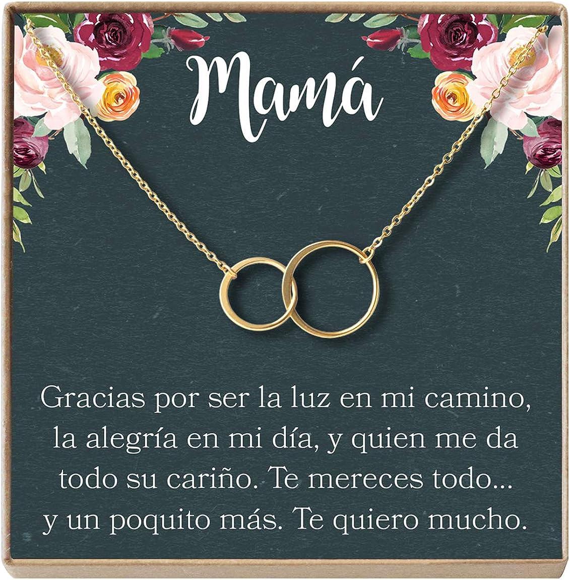 Collar Regalo para Madre, Mamá, Día de la Madre, Cumpleaños, Día de la Mujer, 2 Asymmetrical Circles