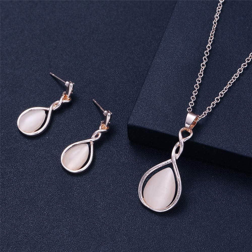 Ogquaton Bijoux populaire collier de boucles doreilles en diamant ensemble cr/éatif et utile