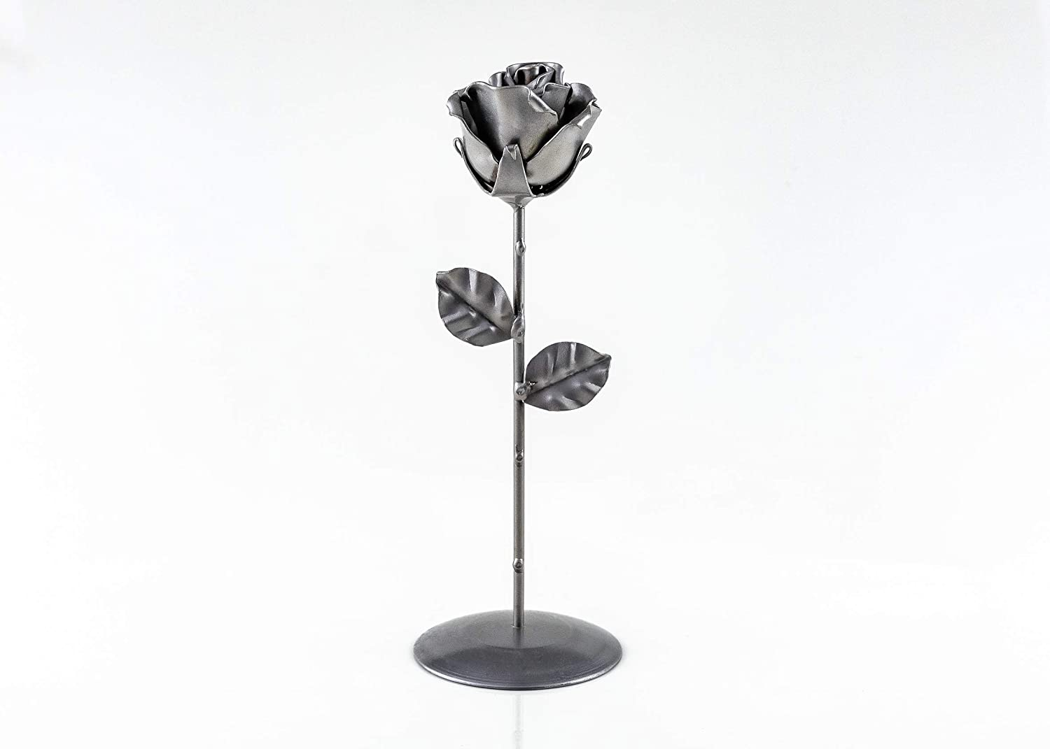 Eternal Rose of Wrought Iron Hand forged