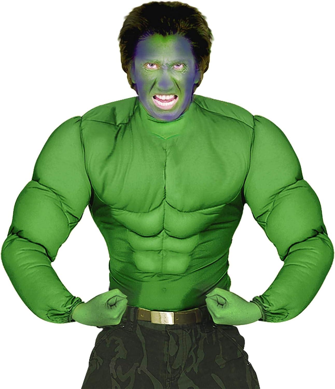 Super Muscle Shirt Costume Small For Super Hero Fancy Dress Bodybuilder Mens
