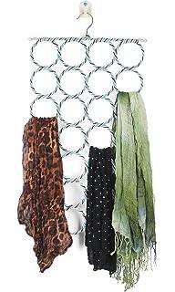 28 Loop Scarf Hanger Holder Closet Door Organizer Tie Belt Rack (Random  Colors)
