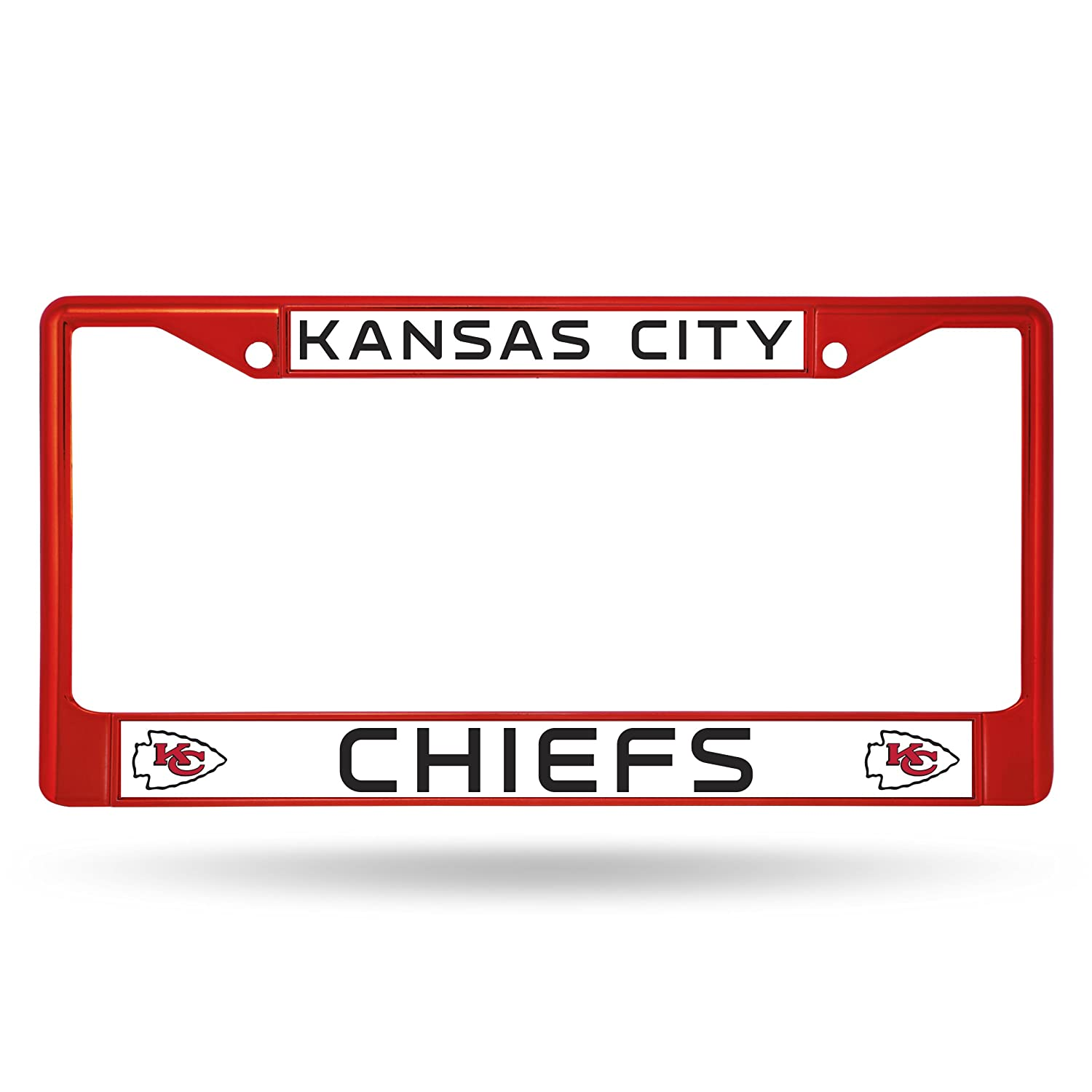 Rico Industries NFL Kansas City Chiefs Colored Chrome Plate Frame Red