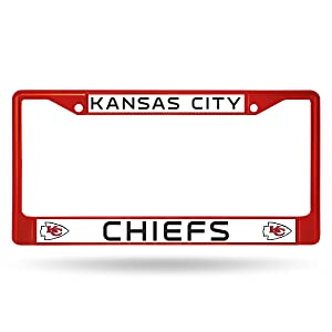Rico Industries NFL Kansas City Chiefs Colored Chrome Plate Frame, Red