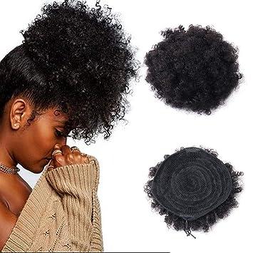 Amazon Com Human Hair Puff Drawstring Ponytail Natural Afro Kinky