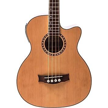 Redwood Ab 30 Electro Acoustic Bass Guitar Natural Amazon Co Uk