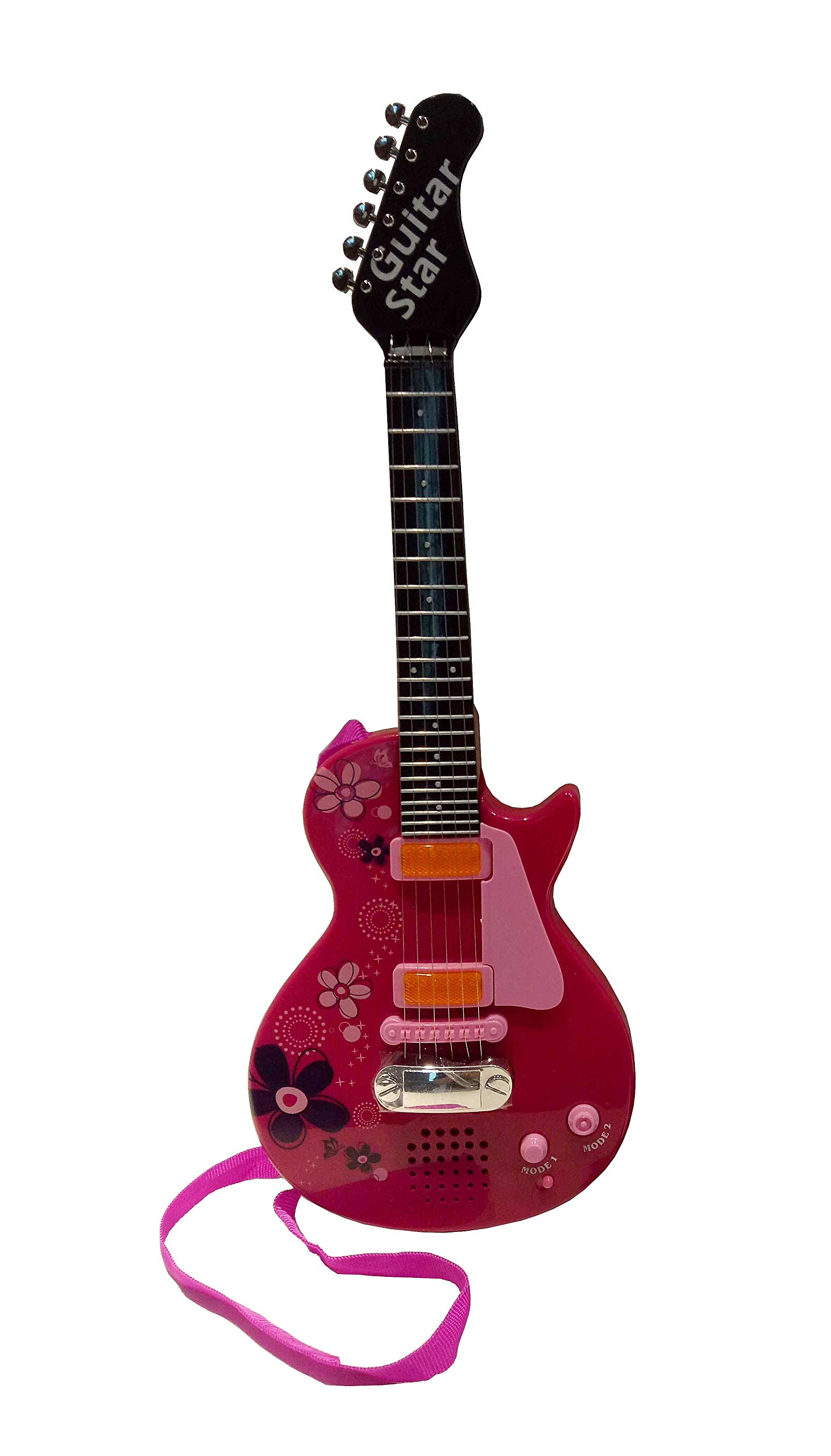 Sound Music and Light Fun Junior Guitar for Kids & beginners Great Gift Pink (Gui5862B) by Lightahead